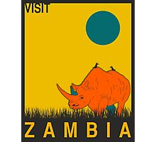 Visit ZAMBIA Travel Poster Photographic Print