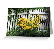 Rudbeckia by the Fence Greeting Card