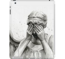 Doctor Who Weeping Angel - Don't Blink! iPad Case/Skin