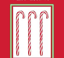 Candy Cane Red Christmas by Mariana Musa