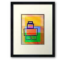 FIBONACCI BOT AT SUNRISE Framed Print
