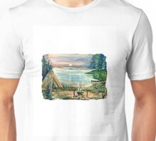 INDIAN CAMP AT SUNSET Unisex T-Shirt