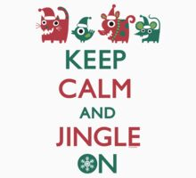 Keep Calm and Jingle On Baby Tee