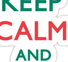 Keep Calm and Jingle On Sticker