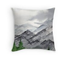 Mountain Landscape Painting over New Mexico Throw Pillow