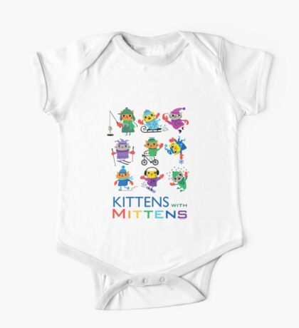 Kittens with Mittens One Piece - Short Sleeve