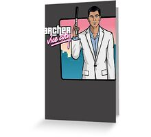 Archer Vice City Greeting Card