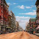 City - Memphis TN - Main Street Mall 1909 by Mike  Savad