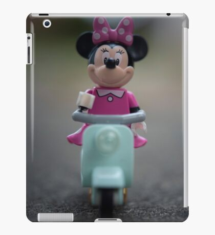 Minnie Mouse on Scooter iPad Case/Skin