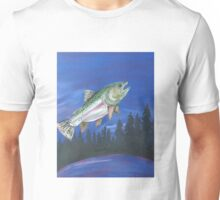 Jumping Rainbow Trout at Dusk Unisex T-Shirt