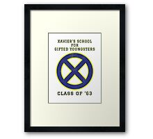 Xavier's School for Gifted Youngsters Framed Print