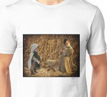 Come they told me Pa rum pum pum pum A new born King to see Pa rum pum pum pum>DRUMMER BOY & BIRTH OF THE KING >PICTURE - CARD-ECT Unisex T-Shirt