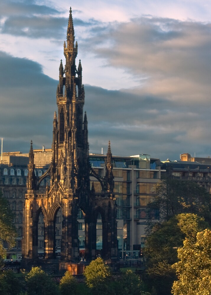 The Scott Monument by Chris Clark
