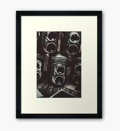 Sound of creative photos Framed Print