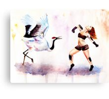 Redhead dances Canvas Print