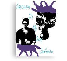 Sarcasm Design Canvas Print