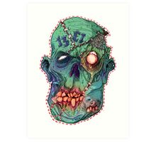 Trick-or-Treating 1313 Rotted Face Art Print