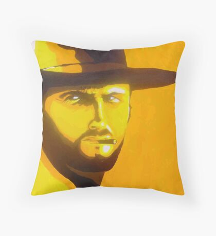 Man with no name Throw Pillow