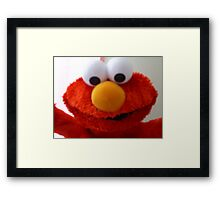 Hello Elmo Framed Print