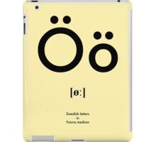 Swedish letter Ö iPad Case/Skin
