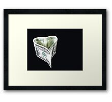Love of Money Framed Print