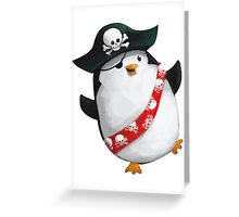 Cute Pirate Penguin Greeting Card