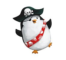 Cute Pirate Penguin Photographic Print