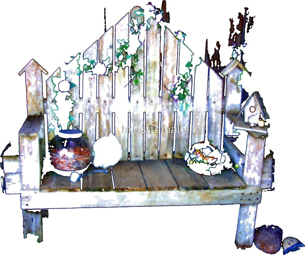Garden Bench by artistfemale