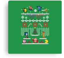 A Super Smash 8-Bit Christmas Canvas Print