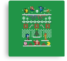 A Super Smash 8-Bit Christmas Canvas Print