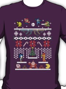 A Super Smash 8-Bit Christmas T-Shirt