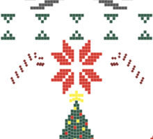 A Super Smash 8-Bit Christmas Sticker