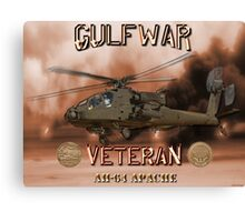 AH-64 Apache Gulf War Veteran Canvas Print