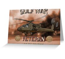 AH-64 Apache Gulf War Veteran Greeting Card