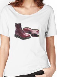 Red Doc Marten Skinhead Boots Women's Relaxed Fit T-Shirt