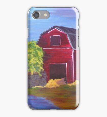 Fall and Spring Meet at the Barn iPhone Case/Skin