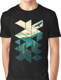 Vintage Pines Eagles Mountain In Geometric Shape Graphic T-Shirt
