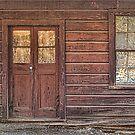 Old Door and Window by Floyd Hopper
