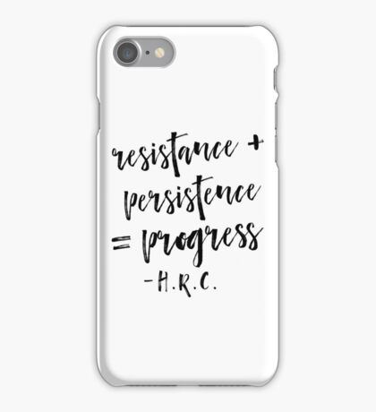 Resistance + Persistence = Progress iPhone Case/Skin