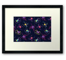 Cute Spider PATTERN  Framed Print