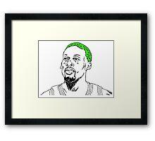 Rodman Framed Print