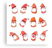 Happy Little Santas Canvas Print