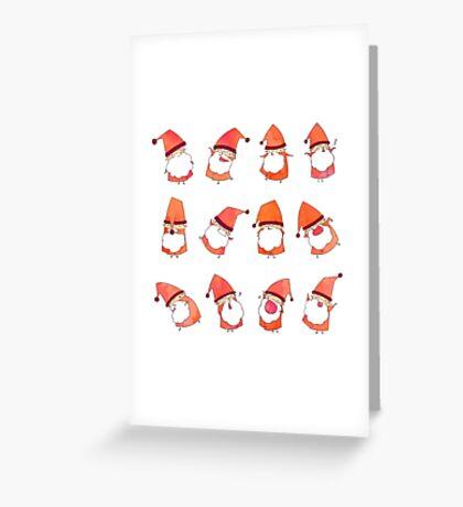 Happy Little Santas Greeting Card