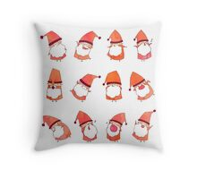 Happy Little Santas Throw Pillow