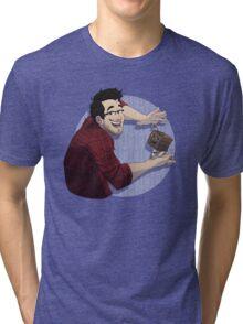 Markiplier & Tiny Box Tim (shirt only) Tri-blend T-Shirt