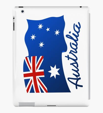 Australian continent with flag iPad Case/Skin