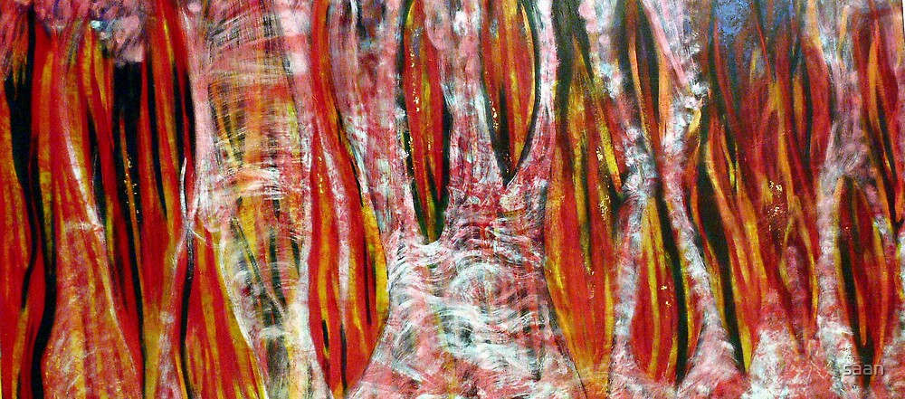 Acrimonious fury 2006 oil on canvas by saan
