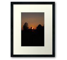 TRANQUIL SUNSET Framed Print