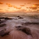 Bar Beach at Dusk 7 by Mark Snelson