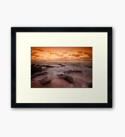 Bar Beach at Dusk 7 Framed Print